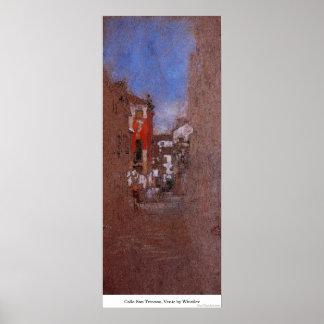 Calle San Trovaso, Venic by Whistler Poster