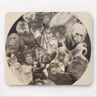 Calley Monkey Mandala Mouse Pad
