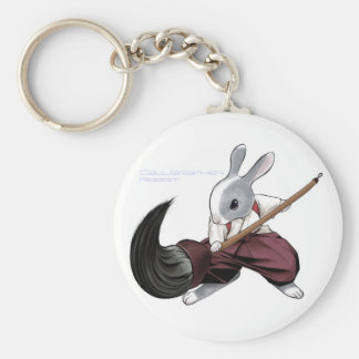Calligrapher Rabbit - Keychain-