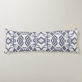 Calligraphic Body Pillow in Indigo