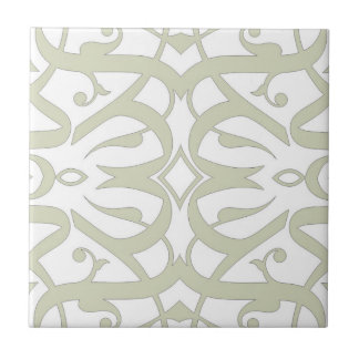 Calligraphic tile White and Beige