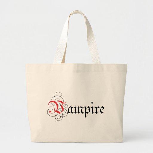Calligraphic  Vampire Jumbo Tote Bag