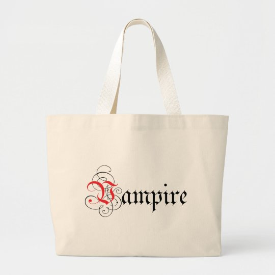 Calligraphic  Vampire Large Tote Bag