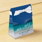 Calligraphy Beach Wedding Favour Boxes Tent