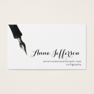 Calligraphy Business Card