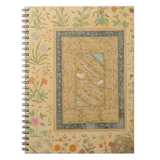 Calligraphy by the Iranian master Ali al-Mashhadi Spiral Notebook