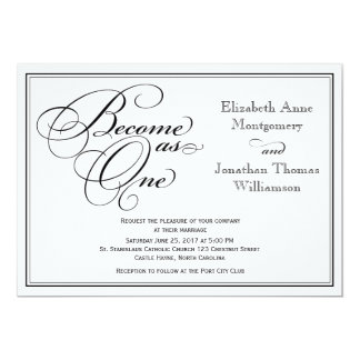 Calligraphy Christian Wedding Invitation
