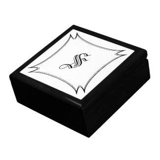 Calligraphy Custom Initial Keepsake Jewelry Box