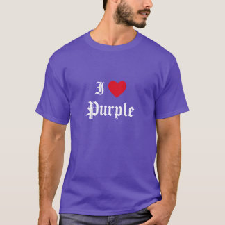 Calligraphy I Love Purple T-Shirt