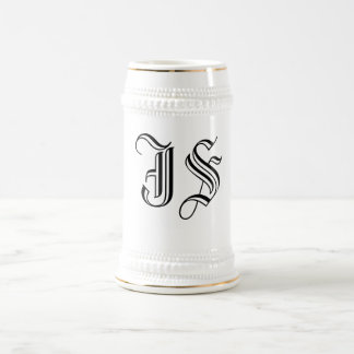 Calligraphy Initials Coffee and Beer Stein Beer Steins