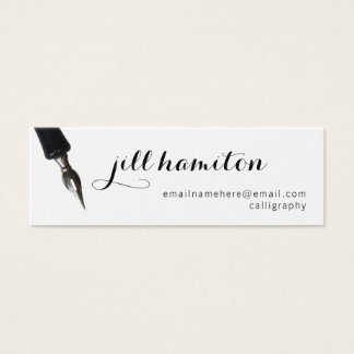 Calligraphy Mini Business Card