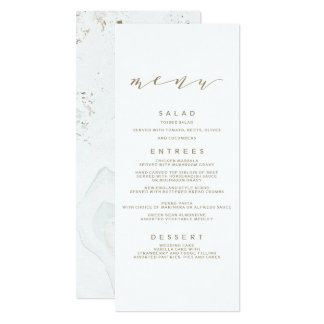 Calligraphy Wedding Menu | Gold Card