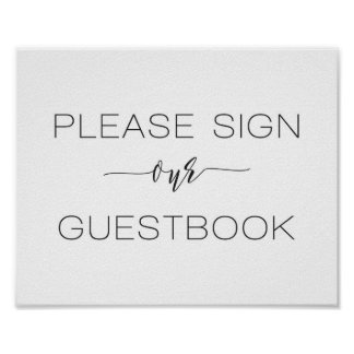 Calligraphy Wedding Sign Our Guest Book
