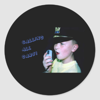 Calling All Cars! (Little Officer 6) Classic Round Sticker