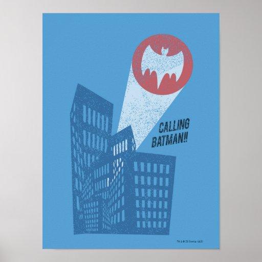 Calling Batman Bat Symbol Graphic Poster