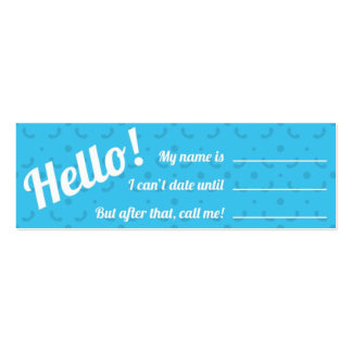 Calling Card - Blue Jewel Pack Of Skinny Business Cards