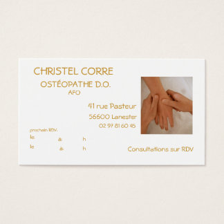 calling card for osteopath