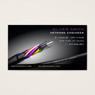 Calling card on black bottom network fiberoptic