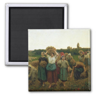 Calling in the Gleaners, 1859 Square Magnet