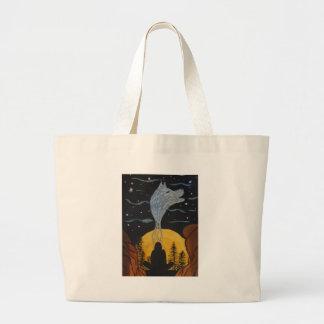 Calling my spirit large tote bag
