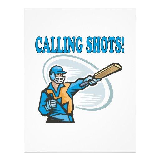 Calling Shots Custom Flyer