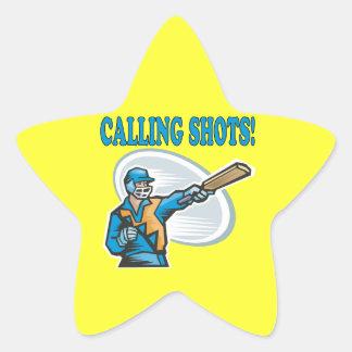 Calling Shots Star Sticker