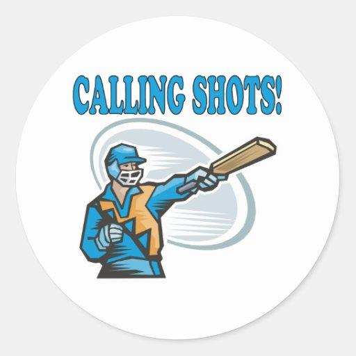 Calling Shots Round Sticker