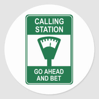 Calling Station Classic Round Sticker