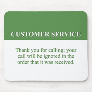 Calling the Customer Service Line (2) Mouse Pad