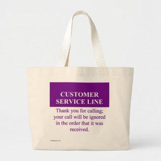 Calling the Customer Service Line (3) Jumbo Tote Bag