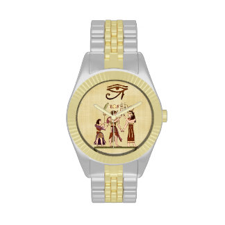 Calling to the Gods Egyptian Folk Art Wrist Watches