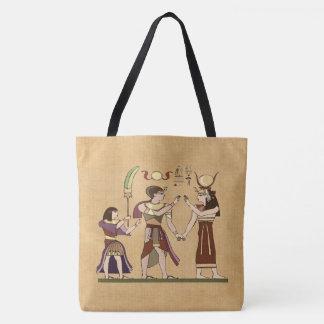 Calling to the Gods Egyptian Folk Art Tote Bag