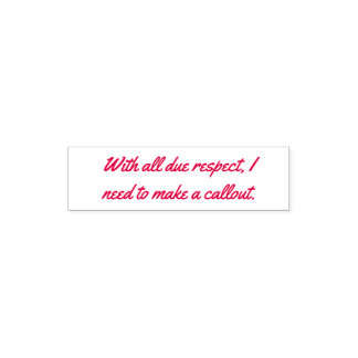 callout niceties self inking stamp