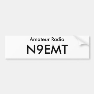 Callsign Bumper Sticker