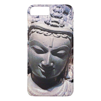 Calm, Asian Stone Face Statue Head Close-up Photo iPhone 8 Plus/7 Plus Case