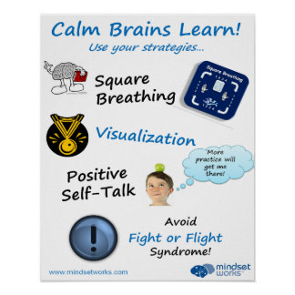 Calm Brains Learn poster for Brainology®