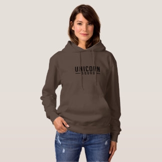 Calm Brown Unicorn Squad -Warm Hoodie Sweatshirt