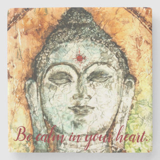 Calm Buddha Art Stone Coaster