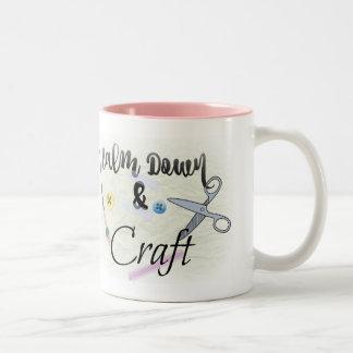 Calm Down & Craft - Two-Tone Mug