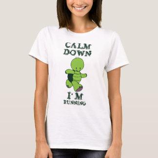 Calm Down I'm Running Cute Turtle Tee Shirt