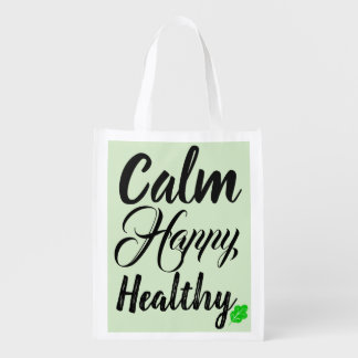 Calm Happy Healthy Reusable Bag