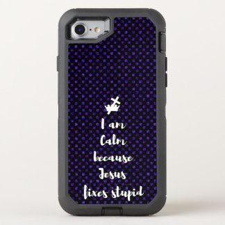 Calm in Jesus OtterBox Defender iPhone 8/7 Case