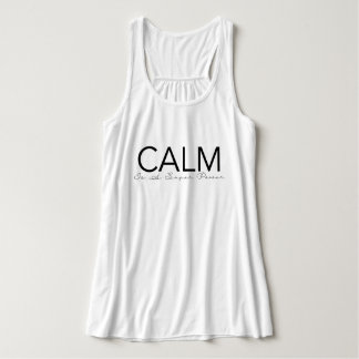 Calm Is A Super Power | Yoga Typography Singlet