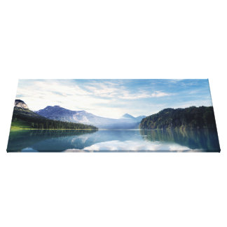 Calm Lake Embraced By Beautiful Nature Canvas