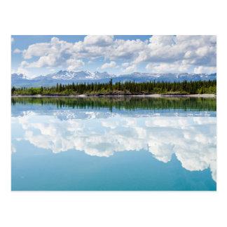 Calm Lake Laberge Postcard