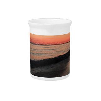 Calm morning beach sunrise pitcher
