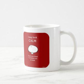 calm basic white mug