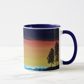 Calm Night Two-Toned Blue Interior Mug