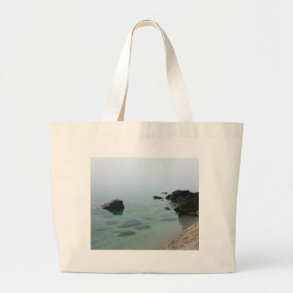 Calm ocean seascape, zen water photo large tote bag