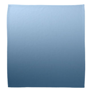 Calm One Color Gradient Blue Bandana
